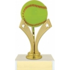 "6"" Tri Star Softball Trophy"